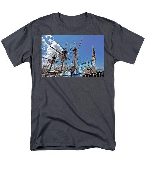 Men's T-Shirt  (Regular Fit) featuring the photograph The Kalmar Nyckel - Delaware by Brendan Reals