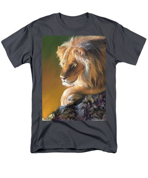 Men's T-Shirt  (Regular Fit) featuring the painting The King by Sherry Shipley