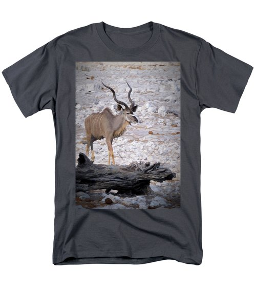 Men's T-Shirt  (Regular Fit) featuring the digital art The Kudu In Namibia by Ernie Echols