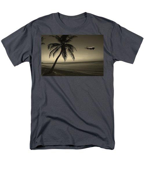 The Last Flight Out Men's T-Shirt  (Regular Fit) by Susanne Van Hulst