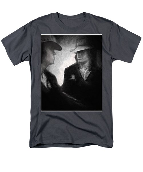 Men's T-Shirt  (Regular Fit) featuring the drawing The Looking Glass by Michael Cleere
