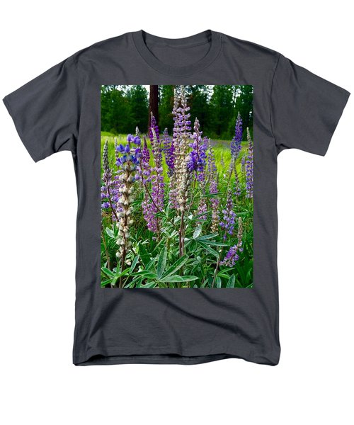 The Lupine Crowd Men's T-Shirt  (Regular Fit) by Jennifer Lake