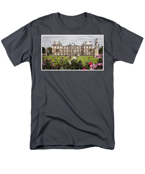Men's T-Shirt  (Regular Fit) featuring the digital art The Luxembourg Palace by Kai Saarto