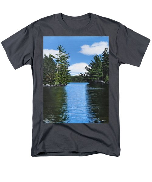 The Narrows Of Muskoka Men's T-Shirt  (Regular Fit) by Kenneth M  Kirsch