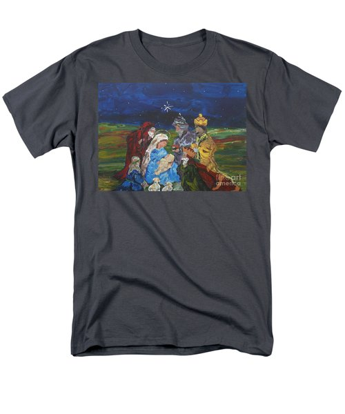 Men's T-Shirt  (Regular Fit) featuring the painting The Nativity by Reina Resto