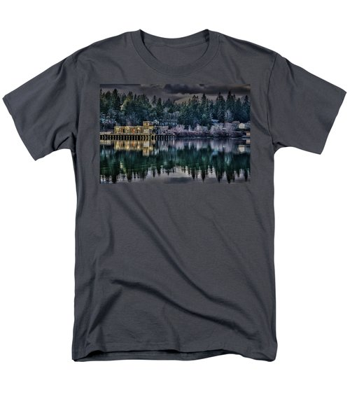 Men's T-Shirt  (Regular Fit) featuring the photograph The Navy Base P1 by Timothy Latta