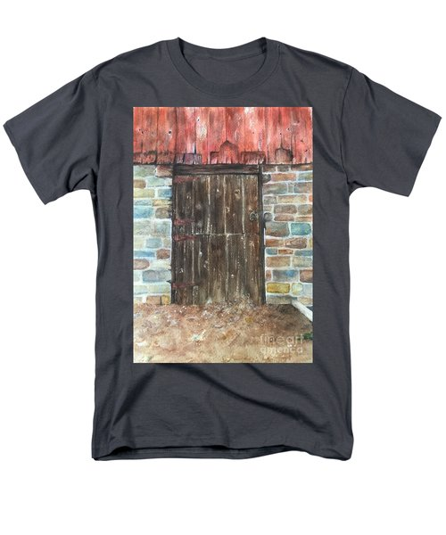The Old Barn Door Men's T-Shirt  (Regular Fit) by Lucia Grilletto