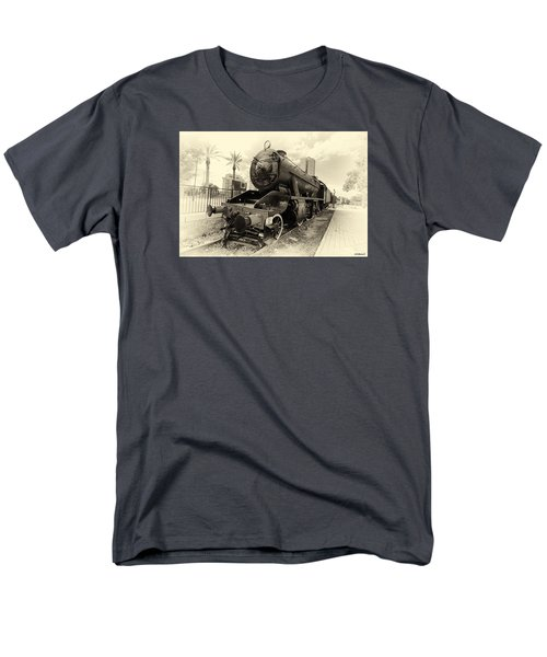 Men's T-Shirt  (Regular Fit) featuring the photograph The Old Locomotive by Uri Baruch