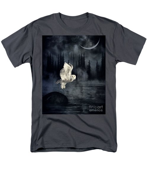 Men's T-Shirt  (Regular Fit) featuring the photograph The Owl And Her Mystical Moon by Heather King