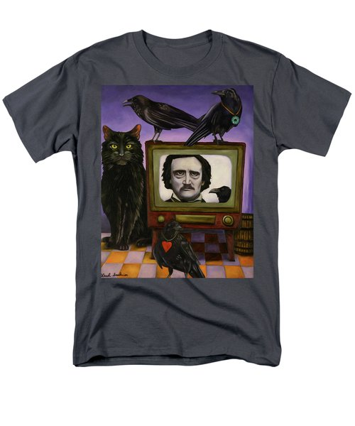 Men's T-Shirt  (Regular Fit) featuring the painting The Poe Show by Leah Saulnier The Painting Maniac