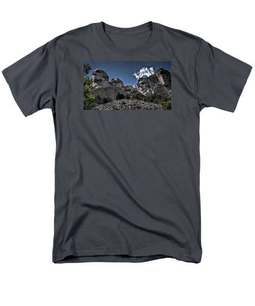 Men's T-Shirt  (Regular Fit) featuring the photograph The Presidents Of Mount Rushmore by Deborah Klubertanz