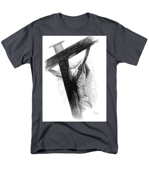 Men's T-Shirt  (Regular Fit) featuring the drawing The Promise by Noe Peralez