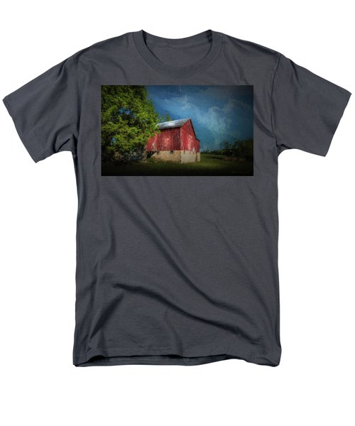 Men's T-Shirt  (Regular Fit) featuring the photograph The Red Barn by Marvin Spates