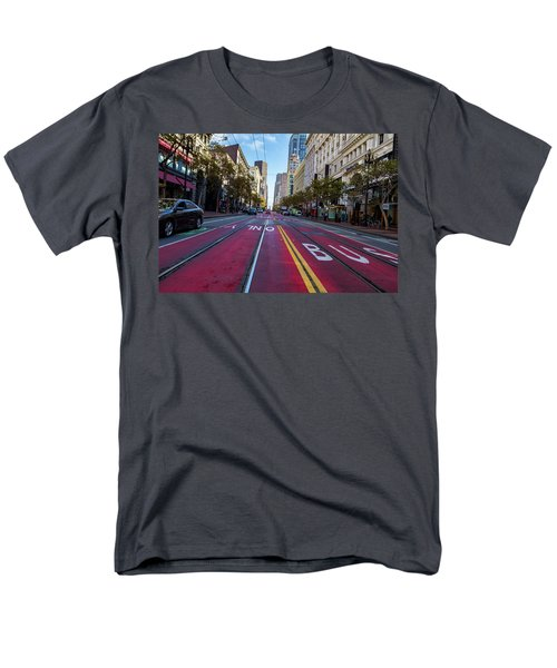 Men's T-Shirt  (Regular Fit) featuring the photograph The Red Path by Darcy Michaelchuk