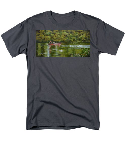 Men's T-Shirt  (Regular Fit) featuring the painting The Red Punt by Murray McLeod