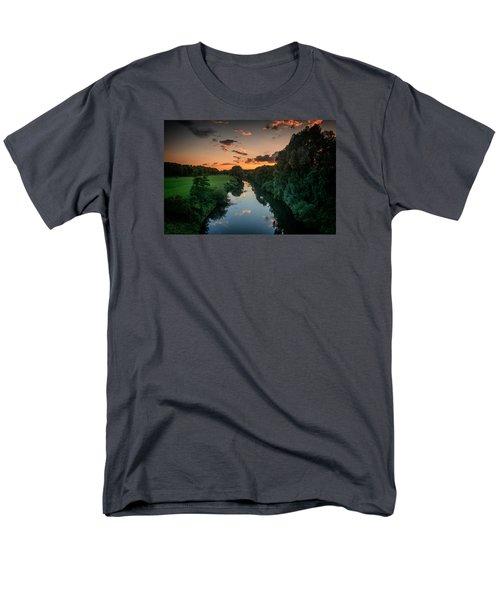 The River Lippe In Lower Rhine Region Men's T-Shirt  (Regular Fit) by Sabine Edrissi