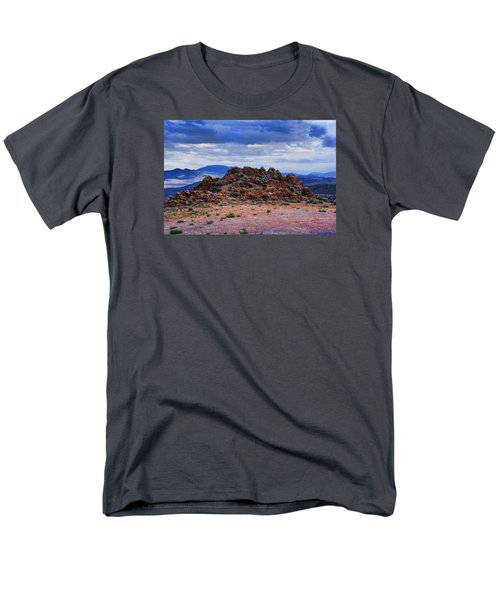 Men's T-Shirt  (Regular Fit) featuring the photograph The Rock Stops Here by B Wayne Mullins
