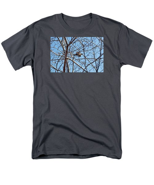 The Ruffed Grouse Flying Through Trees And Branches Men's T-Shirt  (Regular Fit) by Asbed Iskedjian