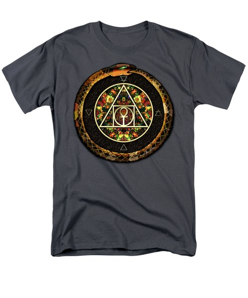 Men's T-Shirt  (Regular Fit) featuring the digital art The Sacred Alchemy Of Life by Iowan Stone-Flowers