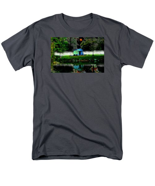 Men's T-Shirt  (Regular Fit) featuring the digital art The Cemetery  by Michael Rucker