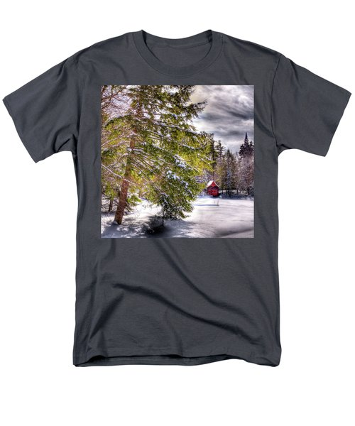 Men's T-Shirt  (Regular Fit) featuring the photograph The Secluded Boathouse by David Patterson