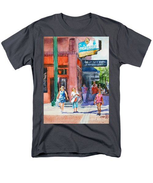 Men's T-Shirt  (Regular Fit) featuring the painting The Shoppers by Ron Stephens