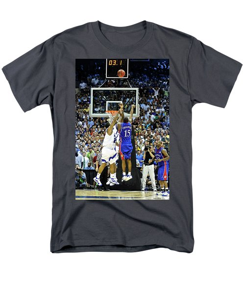 The Shot, 3.1 Seconds, Mario Chalmers Magic, Kansas Basketball 2008 Ncaa Championship Men's T-Shirt  (Regular Fit) by Thomas Pollart