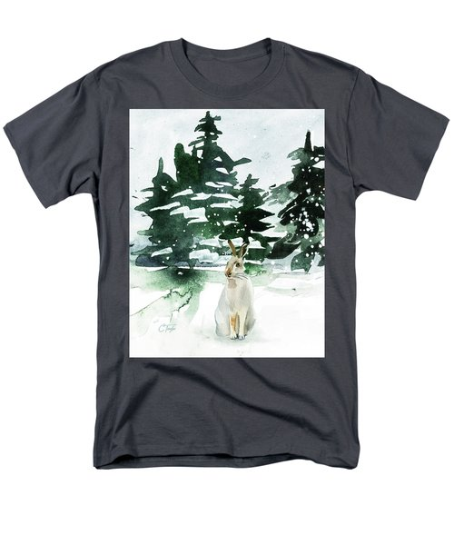 Men's T-Shirt  (Regular Fit) featuring the painting The Snow Bunny by Colleen Taylor