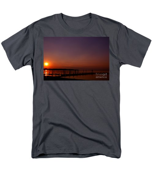 The Sun Sets Over The Water Men's T-Shirt  (Regular Fit) by Clayton Bruster
