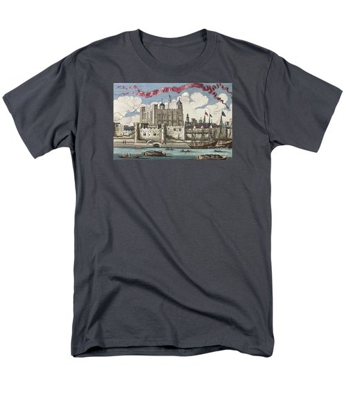 The Tower Of London Seen From The River Thames Men's T-Shirt  (Regular Fit) by English School