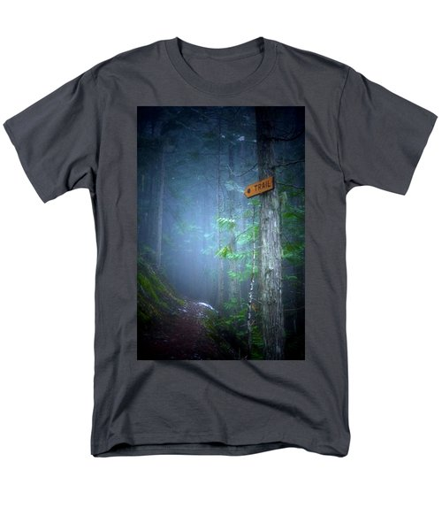 Men's T-Shirt  (Regular Fit) featuring the photograph The Trail by Tara Turner