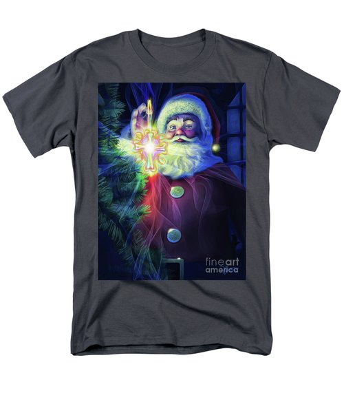 Men's T-Shirt  (Regular Fit) featuring the painting The True Spirit Of Christmas - Bright by Dave Luebbert