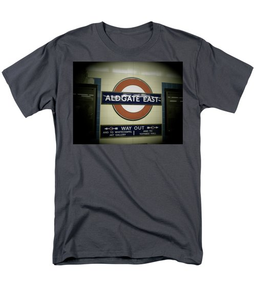 Men's T-Shirt  (Regular Fit) featuring the photograph The Tube Aldgate East by Christin Brodie