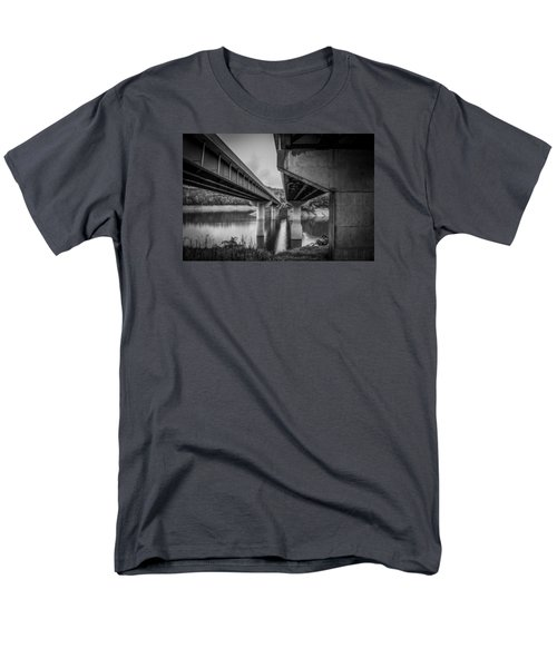 Men's T-Shirt  (Regular Fit) featuring the photograph The Underside Of Two Bridges by Kelly Hazel
