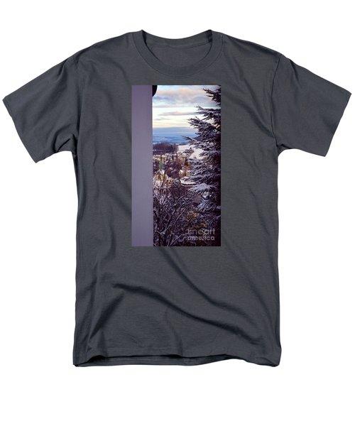 Men's T-Shirt  (Regular Fit) featuring the photograph The Village - Winter In Switzerland by Susanne Van Hulst