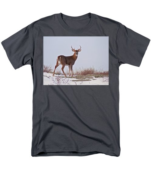 The Watchful Deer Men's T-Shirt  (Regular Fit) by Nancy De Flon