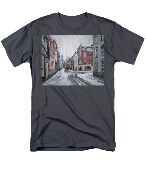 The White Grand Canal Street Maastricht Men's T-Shirt  (Regular Fit) by Nop Briex