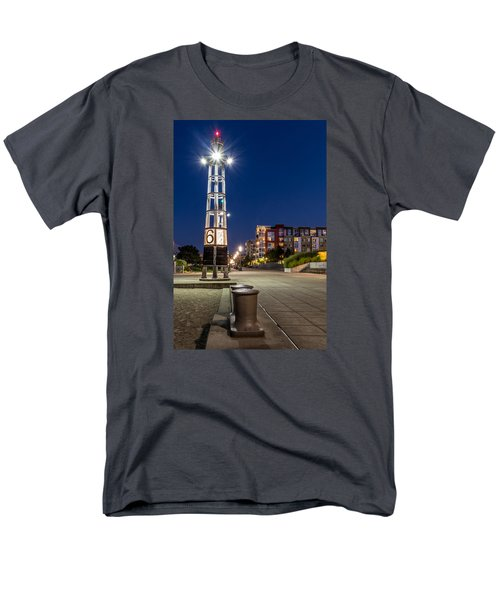 Men's T-Shirt  (Regular Fit) featuring the photograph Thea's Landing Boardway During Blue Hour by Rob Green