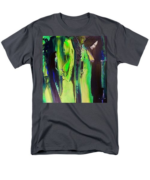 Men's T-Shirt  (Regular Fit) featuring the painting Thoughtful Gathering by Kicking Bear Productions