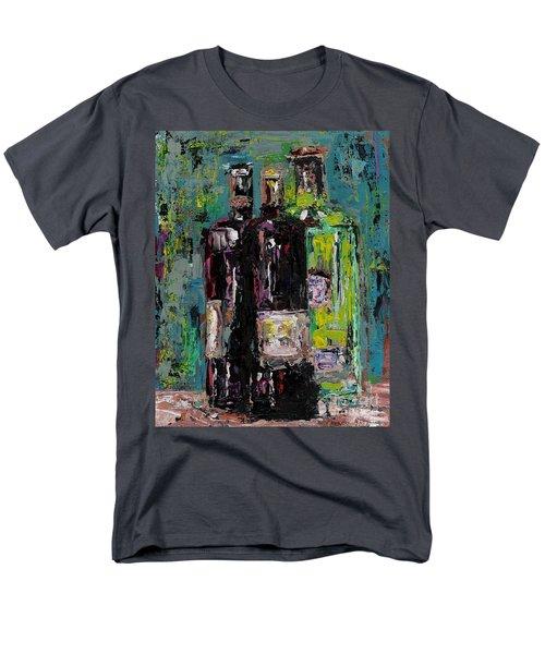 Three Bottles Of Wine Men's T-Shirt  (Regular Fit) by Frances Marino