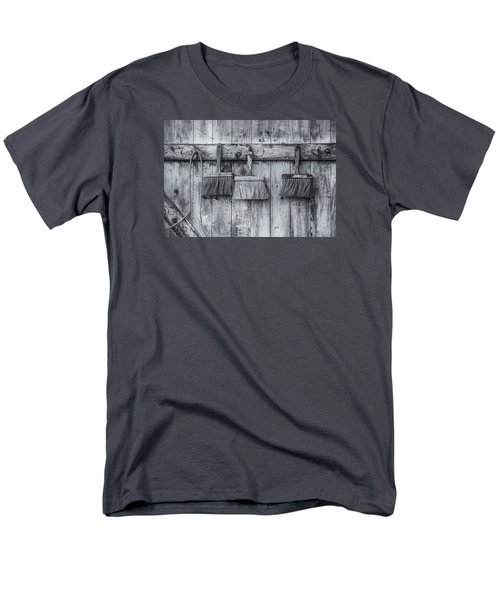 Men's T-Shirt  (Regular Fit) featuring the photograph Three Brushes Black And White by Tom Singleton
