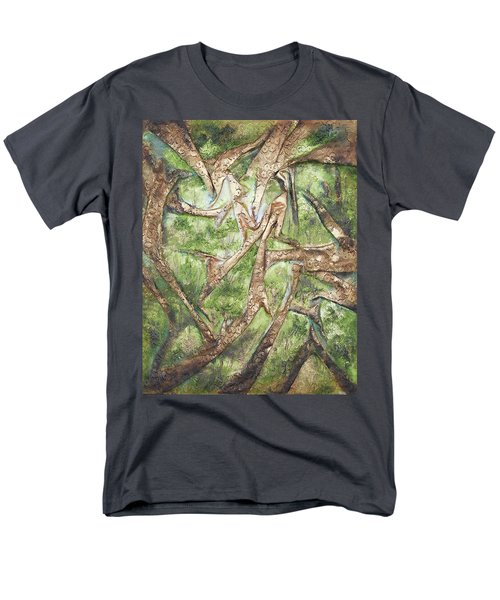Through Lacy Branches Men's T-Shirt  (Regular Fit) by Angela Stout