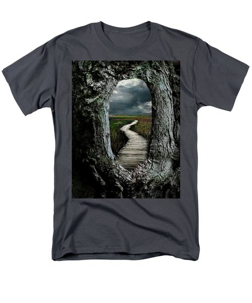 Through The Knot Hole Men's T-Shirt  (Regular Fit) by Rick Mosher