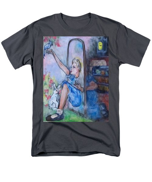 Through The Looking Glass Men's T-Shirt  (Regular Fit) by Barbara O'Toole