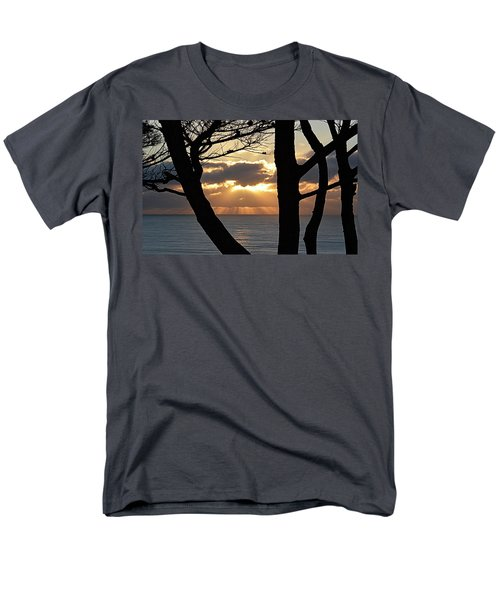 Men's T-Shirt  (Regular Fit) featuring the photograph Through The Trees by AJ Schibig