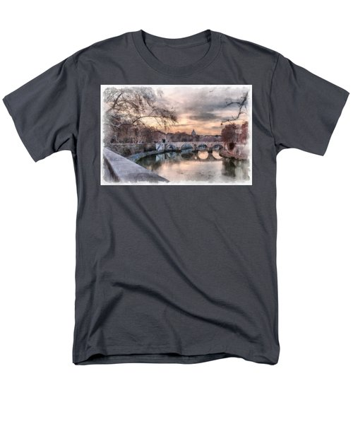 Tiber - Aquarelle Men's T-Shirt  (Regular Fit) by Sergey Simanovsky