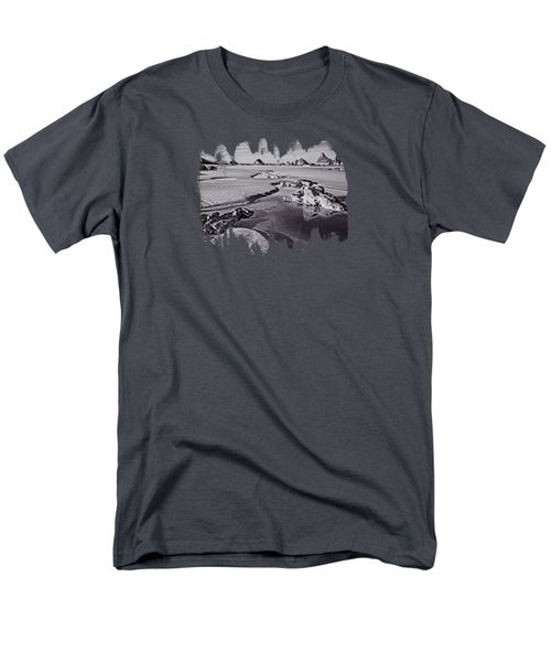 Tides Out At Seal Rock Beach Men's T-Shirt  (Regular Fit) by Thom Zehrfeld