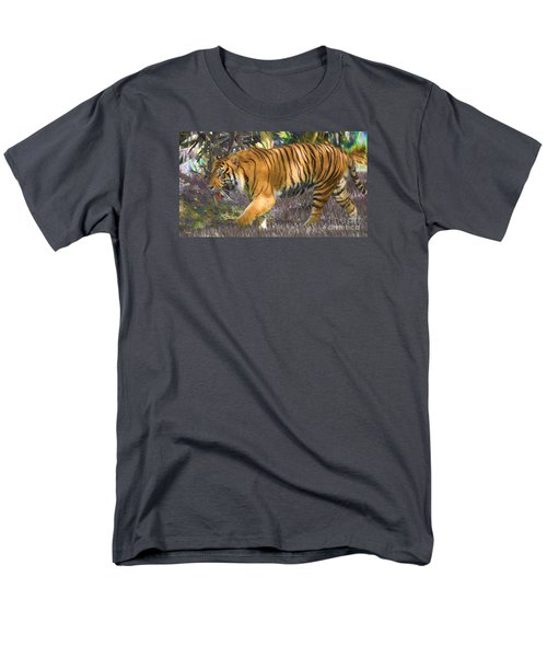 Men's T-Shirt  (Regular Fit) featuring the painting Tiger On The Prowl by Judy Kay