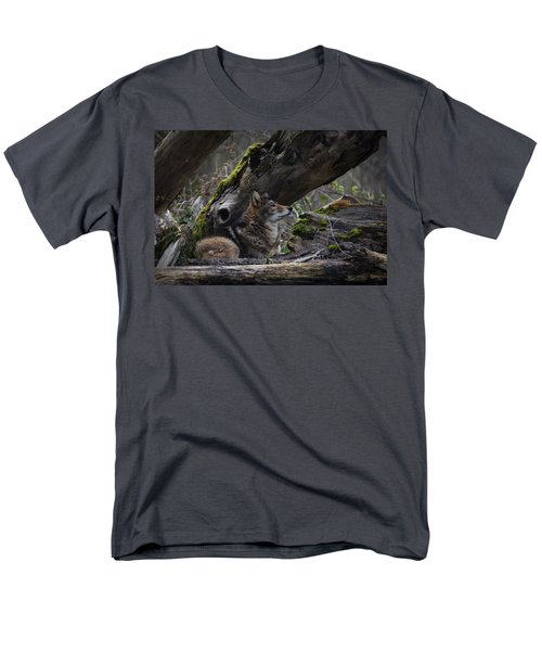 Timber Wolf Men's T-Shirt  (Regular Fit) by Randy Hall