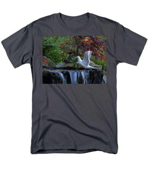 Time For A Bird Bath Men's T-Shirt  (Regular Fit) by Keith Boone